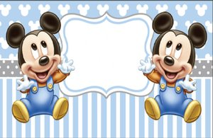 Wholesale 7X5FT Light Blue Twins Baby Mouse Footprints Custom Photo Studio Backdrop Background Vinyl cm x cm