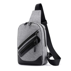 Wholesale New Men'S Chest Bag Shoulder Messenger Bag Large Capacity Multi-Function Small Backpack Fashion Korean Version Of The Cool Cool Men'S Bag