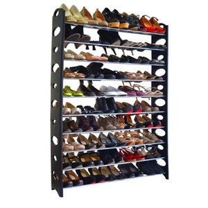 Wholesale 10 Tier Shoe Rack For Pair Wall Bench Shelf Closet Organizer Storage Box free US shipping