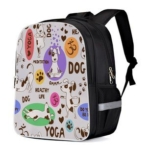Wholesale Spotted Dog Computer Backpack Outdoor Backpack Laptop Book Bag Travel Kids Backpacks School Bags Satchel Stain