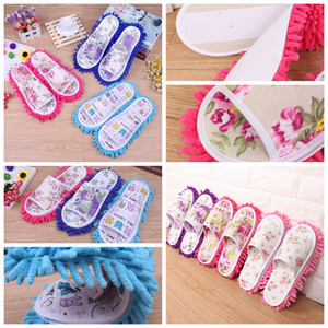 Wholesale 9styles Lazy Cleaning Foot Cleaner Shoes Mop Slipper Soft Wearable Shoes Bathroom Floor Dusting Cover Home Cleanning Tools FFA2317