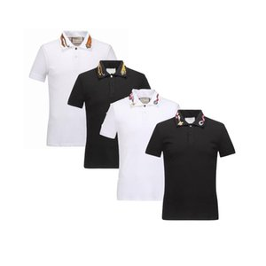 Wholesale Spring Luxury Italy Tee T Shirt Designer Polo Shirts High Street Embroidery Garter Snakes Little Bee Printing Clothing Mens Brand Polo Shirt