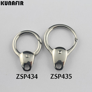 KUNAFIR 316L stainless steel DIY jewelry Finding Components gourd shape key buckle clasps hook accessories parts 10pcs per lot ZSP434 ZSP435