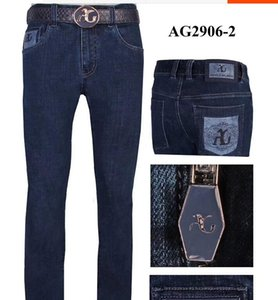 Wholesale Jeans men s new style fashion stitching simple British comfortable embroidered trousers