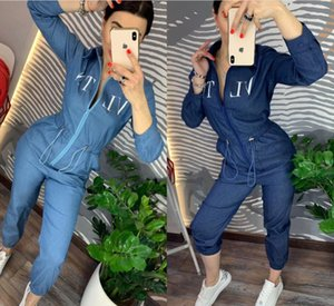 Wholesale New Casual women s jumpsuits rompers women clothes designer two pieces set Sexy letter Printed casual two piece set women clothes brand tra