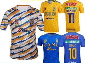 Wholesale New Tigers UANL Home Soccer Jersey Mexico Club tigers yellow Stars GIGNAC Vargas H Ayala SOSA Football Uniform away shirts