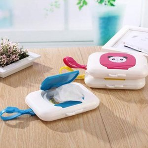 2019 Baby Wipes Case Wet Wipe Box Dispenser For Stroller Portable Rope Lid Covered Tissue Boxes on Sale