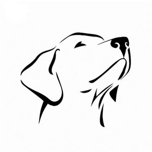 Wholesale silver labradors for sale - Group buy 14CM CM Labrador Retriever Waterproof Vinyl Car Sticker Scratched Shelter Black Silver CA