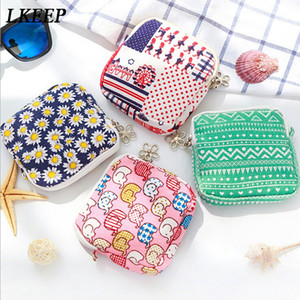 Wholesale Fashion Coin Purse For Women Girls Cute Cartoon Sanitary Napkin Bag Holder Organizer Zipper Traveling Travel Napkin Pouch Wallet