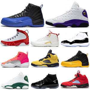 men basketball shoes 5s Michigan Game Royal 12s Concord 11s Cap and Gown 13s Gym Red 9s Mens Trainers Sport Sneakers 7-13