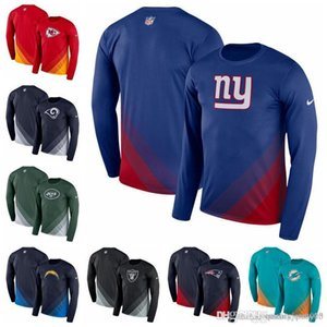 Men's Jackets Chargers Chiefs Dolphins Rams Patriots Giants Jets Raiders Black Sideline Legend Prism Performance Long Sleeve T-Shirt.jp on Sale