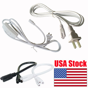 Wholesale connector wires resale online - Power connectors Cable wire line longer pigtail Corded Electric with built in ON OFF Switch three proung Pin Double End Connector