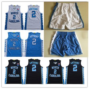 calções de basquete jersey preto venda por atacado-Clássico NCAA North Carolina Tar Heels Cole Anthony Michael College Vince Carter UNC Blue Black White Basketball camisas shorts