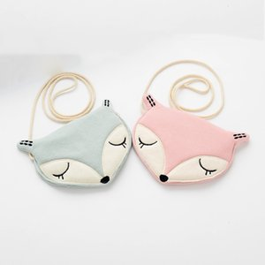 Wholesale 30PCS   LOT Fox Wallet New Coin Purse Children Anime Cartoon Coin Wallet Cute purse Portable Kids Pouch