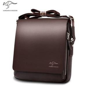 Wholesale OP Rushed Zipper Handbags Men Messenger Bags Big Promotion Genuine Kangaroo Leather Shoulder Bag Man Briefcase free Shippin