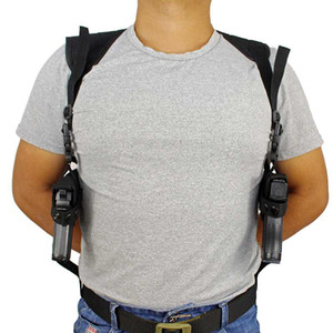 Tactical Double Shoulder Gun Holsters Concealed Carry Dual Pistol Pouch Army Hunting Accessories Handgun Holder