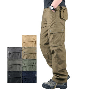 2019 new tactical men's trousers multicolor casual pants cotton trousers men's large size loose outdoor sports pants