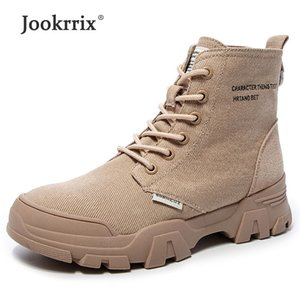 Wholesale Jookrrix Women Fashion Canvas Martin Boots For Female Ankle Boots Lady Comfortable Increased cm Thick Sole Shoes