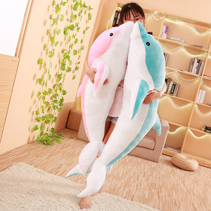 Wholesale 50 cm Kawaii Soft Dolphin Plush Toy big size Stuffed Cartoon Animal Nap Pillow Creative Kid girl cute Toy Christmas Gift SH190913