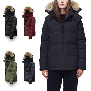 Wholesale 2020 Women winter warm Down Parka Canada Long Jacket Winter Fur Collar White Duck feather Down Coat Padded Warm Parkas Snow Outerwear E44