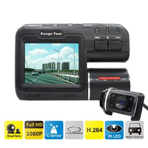 Wholesale Dual Lens Car DVR Camera I1000S Full HD P quot LCD Dash Cam Rear View Camera IR Led Light Night Vision H Video Recorder