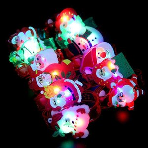 Wholesale 2019 New Year present for children Christmas Santa Claus Light Flash Toys Wrist Hand Take Dance Party Dinner Party dropshopper