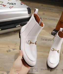 Wholesale 2019 Luxury Top Luxury Womens Ankle Boot Martin Winter Cow Leather Platform Ladies MM High Heels Casual Shoes Booties eur