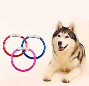 Wholesale Reusable Pet Dog Collar LED Light Night Safety Glowing Pet Supplies Cat LED Dog Collar Pet Accessories S M L Size