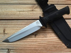Wholesale Promotion LW Survival Straight Knife D2 Stain Drop Point Blade Black G10 Handle Outdoor Hunting Fixed Blade Knives With Kydex