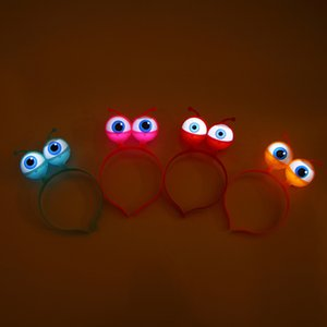 Wholesale toy big eyes for sale - Group buy Halloween glow alien big eye headband whimsical eye hairband party dress headwear stall toys