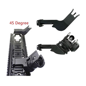 Hunting AR15 M4 AR-15 Front Rear Sight Backup Iron Sight Rapid Sight 45 Degree Rapid Offset Transition
