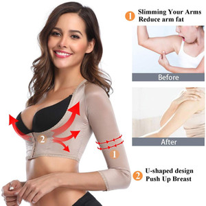 Wholesale Joyshaper Arm Shaper Back Shoulder Support Tops for Women Long Sleeve Crop Top Posture Corrector Shapewear Upper Surgical Vest