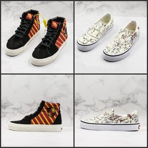 Wholesale New Skateboard Harry Potter X Old Skool Skate Shoes High Low Casual Sneakers Slip On Fashion Designer Canvas Shoes Mens Womens