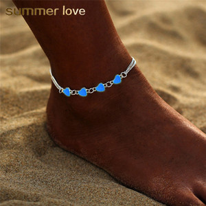 Wholesale anklet feet lovers resale online - Bohemia Summer Luminous Star Heart Pendant Anklets For Women Pretty Bracelet on the Leg Lover Anklet Fashion Female Foot Jewelry Party Gift