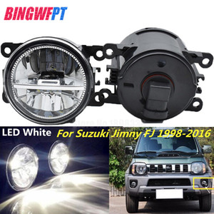 ingrosso grande rotonda-2 PZ Super Bright LED Fendinebbia Bianco Car Styling Paraurti Rotondo Per Suzuki Grand Vitara Alto Swift Ignis Jimny Splash