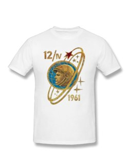 Wholesale Gagarin T Shirt Unisex First Man In Space Cosmos Famous Cosmonaut Pilot Hip Hop Tee Shirt