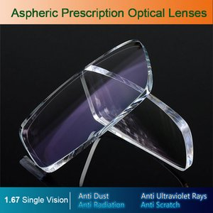 Wholesale 1 Single Vision Aspheric Optical Eyeglasses Prescription Lenses UV400 Anti radiation AR Coating Spectacles Glasses