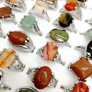 Wholesale Fashion Pieces Natural stone Rings Mix Style Designs Women s and men wedding beautiful Jewelry Gifts