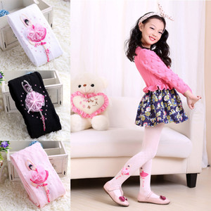 Toddler Girls Dance Socks Fashion Cotton Knit Base Stretch Jacquard Princess Embroidered Lace Socks Sweat Absorb Dance Socks 2-8T 04