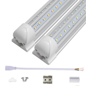 tubos led en forma de v t8 integrados al por mayor-Tubos LED de la puerta del enfriador de pies en forma de V pies FT TUBOS LED integrados de W W AC85 V Funda transparente Luces led