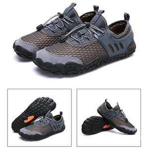Mounchain Men Breathable Aqua Shoes Flat Footwear Outdoor Seaside Elastic Upstream Light Water Shoes Non-Slip Sneakers