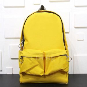 Wholesale 2020 nbsp OW nbsp WHITE nbsp bag red packs Bag Men Canvas Bags mens designer backpacks womens large capacity yellow backpac2c3a