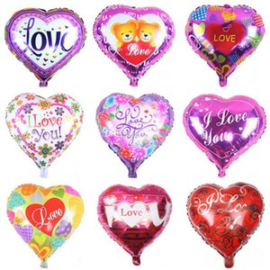 18 inch inflatable air ballons heart shape helium balloon wedding decoration foil balloons love ballons wholesale