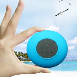 Wholesale Bluetooth Waterproof Speaker Shower Wireless Speakers for Smartphone with Retail Box Sucker Colorful Good Quality Portable Speakers