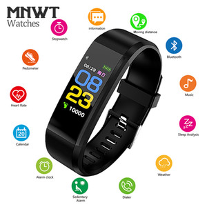Wholesale MNWT Smart Wristband Fitness Tracker Smart Bracelet Real time Heart Rate Monitor Smart Watch Waterproof OLED Touch Screen Smartband
