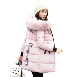 Wholesale 2019 New Fashion Women Winter Jacket With Fur collar Warm Hooded Female Womens Winter Coat Long Parka Outwear Camperas DT191023