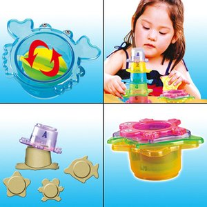 Wholesale 5pc set Swimming Pool Float Ring Toy Adult Kids Beach Stacking Game Parent child Water Float Play Pool Accessories