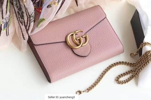 Wholesale yuancheng3 Marmont series nude pink chain bag Women Handbags Bags Top Handles Shoulder Bags Totes Evening Cross Body Bag