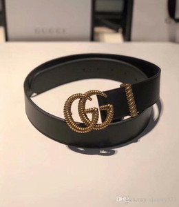 Black letters, leisure and business high-end luxury brands with ladies and high-quality polyurethane fashion belt design belt, free delivery