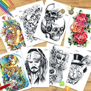 Wholesale New waterproof men and women tattoo green Europe and the United States explosion flower arm tattoo stickers skull tattoo SZ448